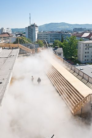 Fujiko Nakaya: Cloud Parking in Linz, 2011